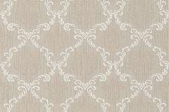 Barokk-klasszikus,különleges motívumos,természeti mintás,valódi textil,virágmintás,barna,fehér,gyengén mosható,vlies tapéta