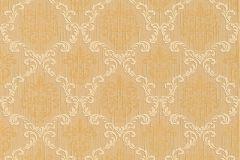 Barokk-klasszikus,különleges motívumos,természeti mintás,valódi textil,virágmintás,arany,narancs-terrakotta,gyengén mosható,vlies tapéta
