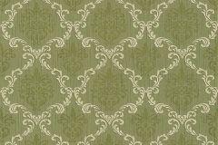 Barokk-klasszikus,különleges motívumos,természeti mintás,valódi textil,virágmintás,vajszín,zöld,gyengén mosható,vlies tapéta