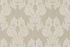 Barokk-klasszikus,különleges motívumos,természeti mintás,valódi textil,virágmintás,barna,szürke,gyengén mosható,vlies tapéta