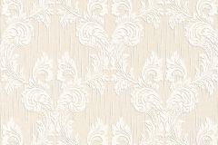 Barokk-klasszikus,különleges motívumos,természeti mintás,valódi textil,virágmintás,fehér,narancs-terrakotta,gyengén mosható,vlies tapéta