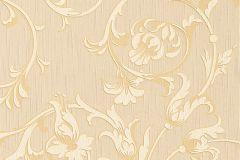 Különleges motívumos,természeti mintás,valódi textil,virágmintás,narancs-terrakotta,vajszín,gyengén mosható,vlies tapéta