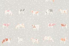 állatok,konyha-fürdőszobai,pöttyös,fehér,narancs-terrakotta,pink-rózsaszín,szürke,lemosható,illesztés mentes,vlies tapéta