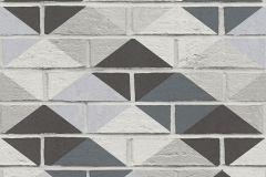 Geometriai mintás,kőhatású-kőmintás,fehér,szürke,súrolható,vlies tapéta