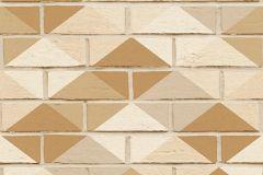 Geometriai mintás,kőhatású-kőmintás,barna,bézs-drapp,fehér,szürke,súrolható,vlies tapéta