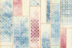 Fa hatású-fa mintás,geometriai mintás,bézs-drapp,fehér,kék,pink-rózsaszín,piros-bordó,zöld,súrolható,vlies tapéta