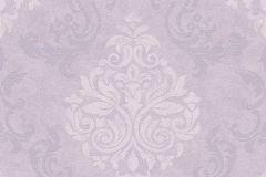 Barokk-klasszikus,különleges motívumos,lila,lemosható,vlies tapéta