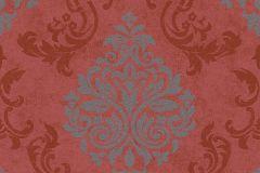 Barokk-klasszikus,geometriai mintás,különleges motívumos,piros-bordó,szürke,lemosható,vlies tapéta