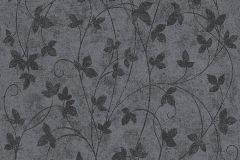 Különleges motívumos,természeti mintás,virágmintás,fekete,szürke,lemosható,illesztés mentes,vlies tapéta