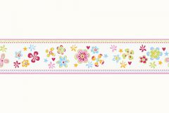 Gyerek,különleges motívumos,rajzolt,virágmintás,narancs-terrakotta,pink-rózsaszín,piros-bordó,zöld,kék,vlies bordűr