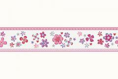 Gyerek,különleges motívumos,rajzolt,virágmintás,lila,pink-rózsaszín,szürke,vlies bordűr