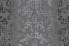 Barokk-klasszikus,pöttyös,ezüst,szürke,lemosható,vlies tapéta