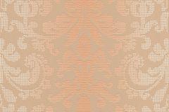 Barokk-klasszikus,pöttyös,bézs-drapp,narancs-terrakotta,sárga,lemosható,vlies tapéta