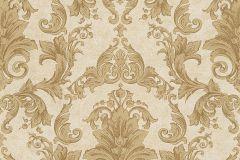 Barokk-klasszikus,különleges felületű,arany,barna,bézs-drapp,súrolható,vlies tapéta