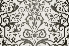 Barokk-klasszikus,fehér,fekete,súrolható,vlies tapéta
