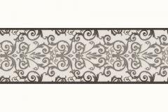 Barokk-klasszikus,szürke,fekete,súrolható,vlies bordűr