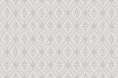 Textil hatású,geometriai mintás,barokk-klasszikus,különleges motívumos,szürke,lila,lemosható,vlies tapéta