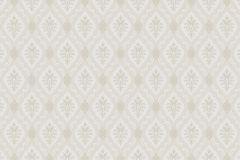 Textil hatású,barokk-klasszikus,különleges motívumos,fehér,szürke,bézs-drapp,lemosható,vlies tapéta