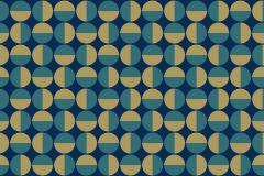Absztrakt,geometriai mintás,pöttyös,retro,arany,kék,türkiz,lemosható,vlies tapéta