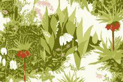 Virágmintás,retro,természeti mintás,gyerek,fehér,piros-bordó,pink-rózsaszín,zöld,vajszínű,gyengén mosható,vlies  tapéta