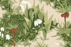 Virágmintás,retro,természeti mintás,gyerek,piros-bordó,bézs-drapp,zöld,gyengén mosható,vlies  tapéta