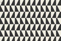 Kockás,retro,geometriai mintás,fehér,fekete,gyengén mosható,vlies tapéta