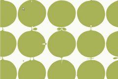 Pöttyös,retro,geometriai mintás,fehér,zöld,gyengén mosható,vlies tapéta