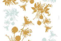 Természeti mintás,arany,kék,sárga,anyagában öntapadós falmatrica