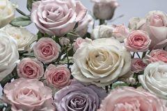Fotórealisztikus,gyerek,virágmintás,bézs-drapp,lila,pink-rózsaszín,vajszín,gyengén mosható,papír poszter, fotótapéta