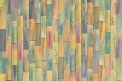 Fa hatású-fa mintás,fotórealisztikus,gyerek,kék,lila,narancs-terrakotta,sárga,türkiz,zöld,gyengén mosható,vlies poszter, fotótapéta