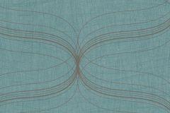 Geometriai mintás,metál-fényes,ezüst,türkiz,lemosható,vlies tapéta