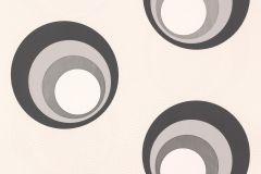 Geometriai mintás,pöttyös,retro,fehér,fekete,szürke,lemosható,vlies tapéta