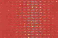 Pöttyös,retro,piros-bordó,sárga,szürke,lemosható,vlies tapéta