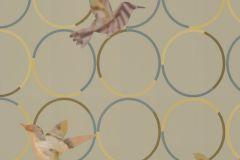állatok,geometriai mintás,pöttyös,barna,sárga,szürke,türkiz,lemosható,vlies panel