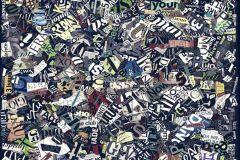 Absztrakt,feliratos-számos,különleges motívumos,rajzolt,retro,barna,fehér,fekete,kék,lila,sárga,szürke,zöld,gyengén mosható,vlies poszter, fotótapéta