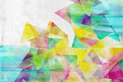Absztrakt,gyerek,különleges motívumos,rajzolt,retro,fehér,kék,lila,pink-rózsaszín,piros-bordó,sárga,türkiz,zöld,gyengén mosható,vlies poszter, fotótapéta