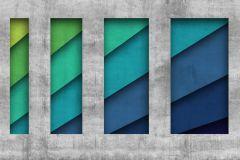 Absztrakt,geometriai mintás,gyerek,kockás,különleges motívumos,retro,kék,szürke,türkiz,zöld,gyengén mosható,vlies poszter, fotótapéta