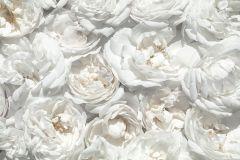 Fotórealisztikus,különleges motívumos,természeti mintás,virágmintás,bézs-drapp,fehér,szürke,gyengén mosható,vlies poszter, fotótapéta