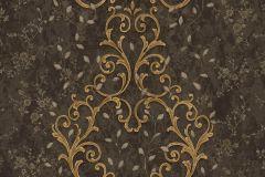 Barokk-klasszikus,különleges motívumos,természeti mintás,textil hatású,textilmintás,virágmintás,arany,bézs-drapp,bronz,fekete,súrolható,vlies tapéta
