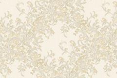 Absztrakt,barokk-klasszikus,különleges motívumos,természeti mintás,textilmintás,virágmintás,arany,fehér,vajszín,súrolható,vlies tapéta