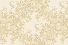 Absztrakt,barokk-klasszikus,különleges motívumos,természeti mintás,textil hatású,textilmintás,virágmintás,arany,vajszín,súrolható,vlies tapéta