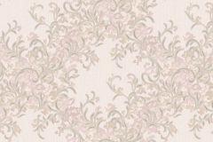 Absztrakt,barokk-klasszikus,különleges motívumos,természeti mintás,textil hatású,textilmintás,virágmintás,pink-rózsaszín,szürke,súrolható,vlies tapéta
