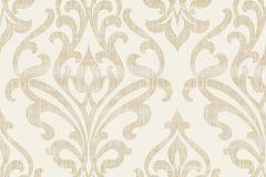 Barokk-klasszikus,geometriai mintás,különleges motívumos,retro,arany,vajszín,súrolható,vlies tapéta