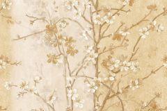 Különleges motívumos,természeti mintás,virágmintás,arany,bronz,fehér,súrolható,vlies tapéta