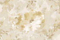 Absztrakt,különleges felületű,természeti mintás,textil hatású,textilmintás,virágmintás,bézs-drapp,vajszín,arany,súrolható,vlies tapéta