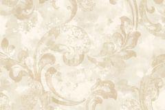 Barokk-klasszikus,különleges felületű,természeti mintás,textil hatású,textilmintás,virágmintás,bézs-drapp,fehér,vajszín,súrolható,vlies tapéta