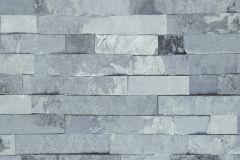 Kőhatású-kőmintás,kék,szürke,lemosható,papír tapéta