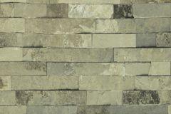 Kőhatású-kőmintás,szürke,zöld,lemosható,papír tapéta