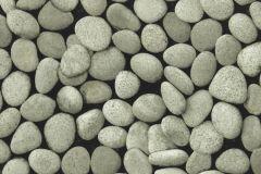 Kőhatású-kőmintás,különleges motívumos,fekete,szürke,lemosható,papír tapéta