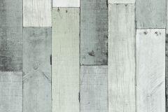 Fa hatású-fa mintás,fehér,szürke,lemosható,papír tapéta